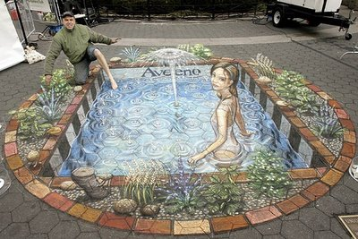 Julian Beever   s New 3D Sidewalk PaintingsDepth Sidewalk Art