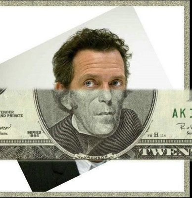 Celebrity Money Bills Optical Illusion