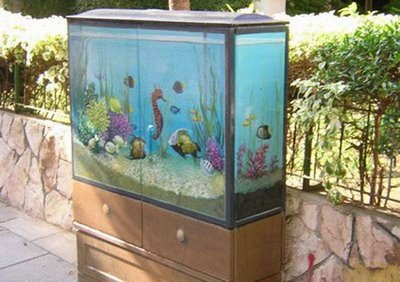 Painted Electric Boxes Illusion