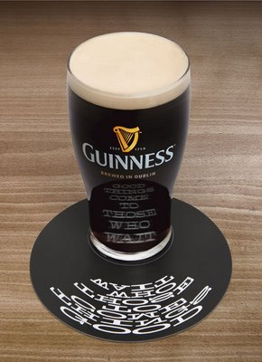 Anamorphic Guinness and Coffe Cups