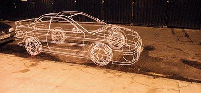 Wire Frame Subaru Impreza Illusion