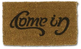 Come In & Go Away Doormat Illusion