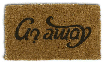 Come In & Go Away Doormat Illusion