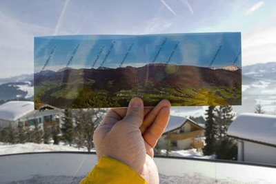Perspective Postcards Optical Illusion
