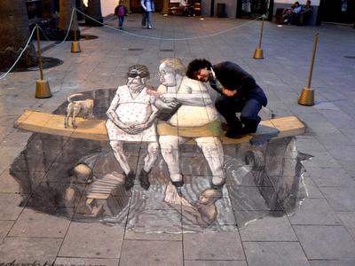 Eduardor Releros Chalk Drawings