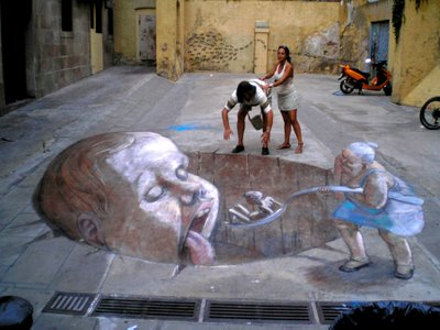 Eduardor Releros Chalk Drawings
