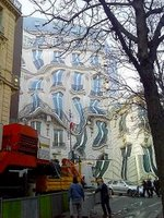 Melting Building Mural