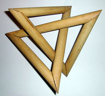 Bamboo Impossible Triangles Illusion