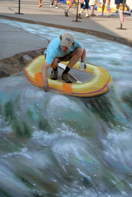 Julian Beevers Sidewalk Rafting Illusion
