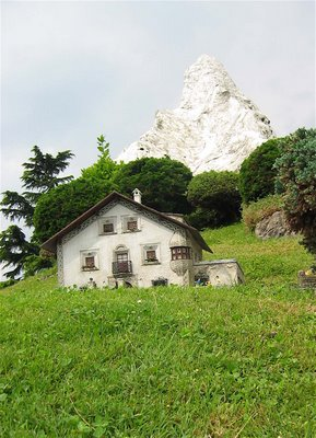 Miniature Switzerland Optical Illusion