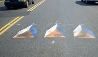 Optical Illusion Creates Fake Speed Bumps