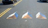 Optical Illusion Creates Fake Speed Bumps