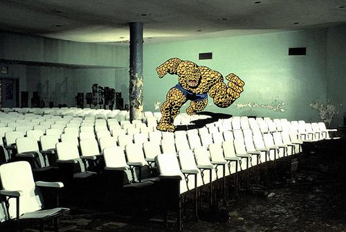 Marvel Comics Superhero Mural Optical Illusion