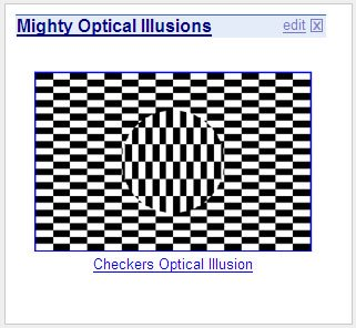 Optical Illusion Of The Day Widgets