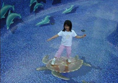 Mosaic Pools Optical Illusion