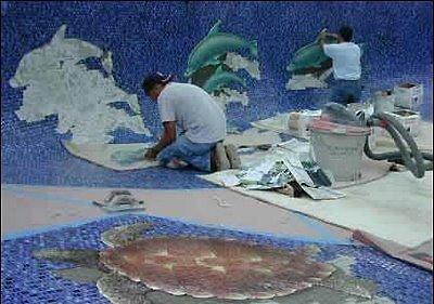 Mosaic Pools Optical Illusion