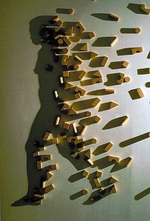 Block Shadow Girl Optical Illusion