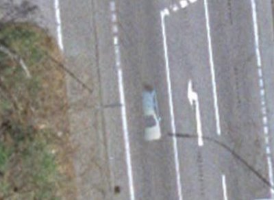 Ghost Car & Pizza Island in Google Earth