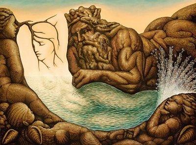 Mermaid Waterfall Optical Illusion