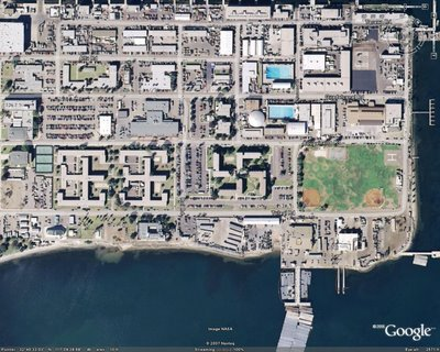Bombed Swastika in Google Earth Illusion
