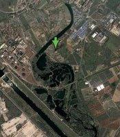 Lake o saurus Illusion in Google Earth
