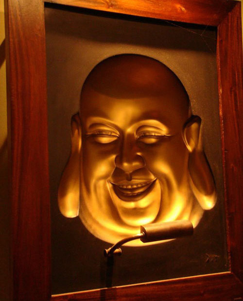 Buddhas Hollow Face Optical Illusion