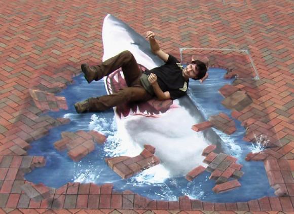 3D Shark Illusion (Street Art)