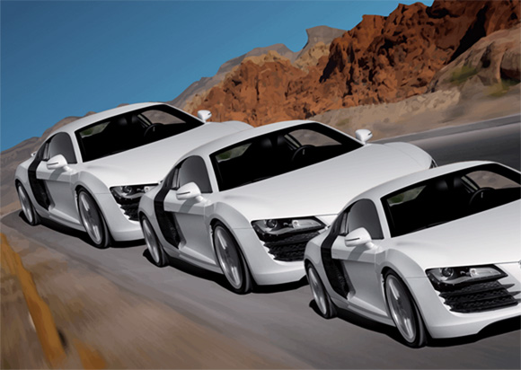 Audi R8 Optical Illusion