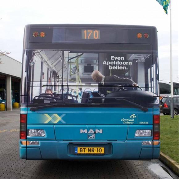 Back Bus Ad Optical Illusion