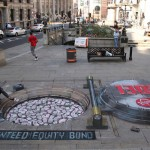 Julian Beever is considered a leading chalk artist in sidewalk art.