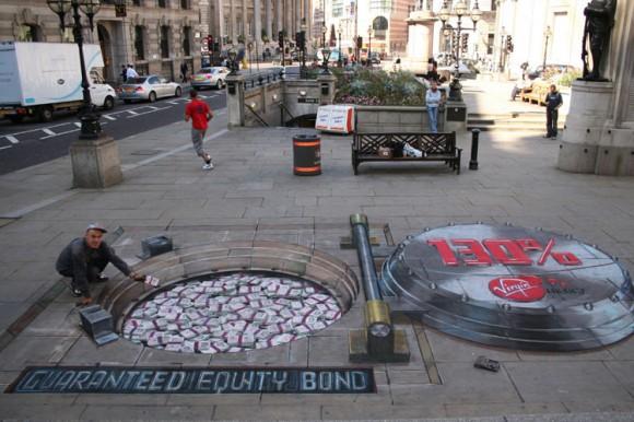 Julian Beever is considered a leading chalk artist in sidewalk art.