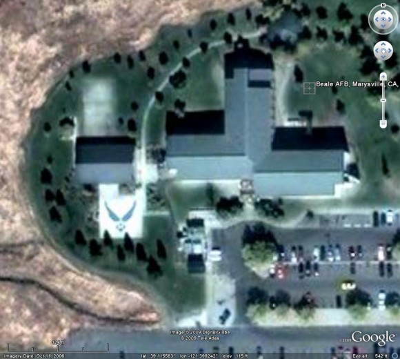 USAF Alien in Google Earth