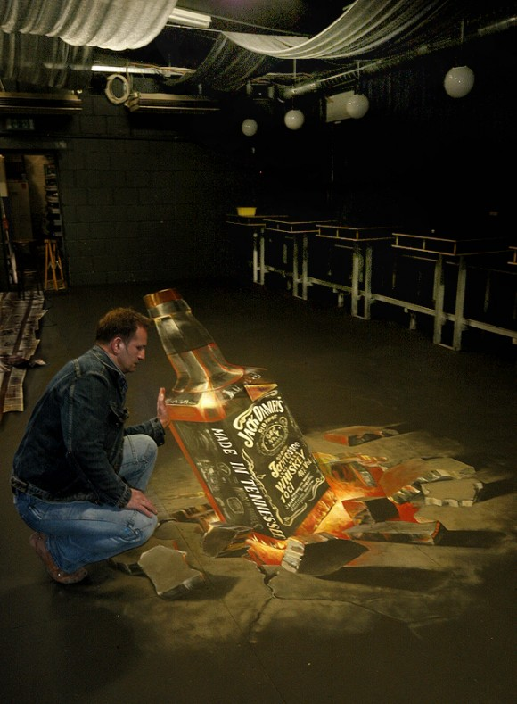 Yes, it's another awesome 3d chalk drawing for another whiskey brand