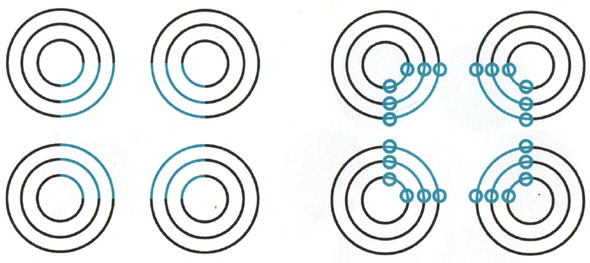 bluish circles optical illusion