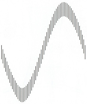 Sine Line Optical Illusion