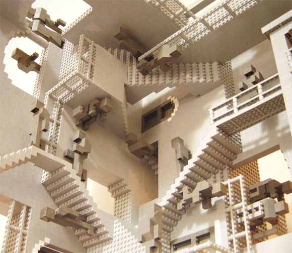 Henry Lim created this LEGO replica of Relativty by M.C. Escher