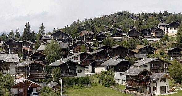 Village Turned into Optical Illusion