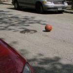 Painted Basket Ball Optical Illusion