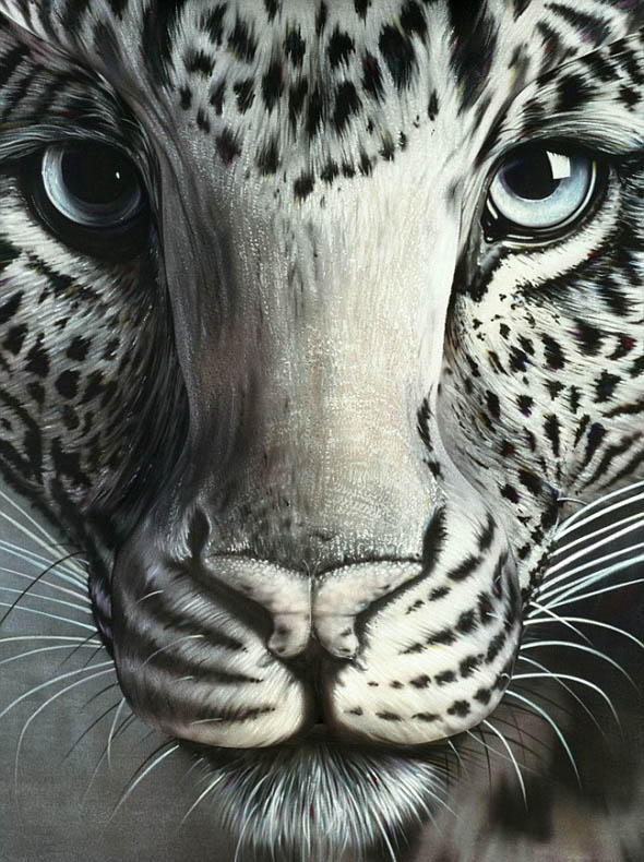 optical illusion ever illusions leopard cool visual body animals paint difficult tracy craig animal face most painting paintings woman biggest