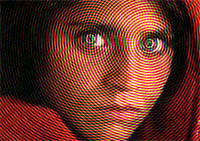 Afghan Girl Optical Illusion