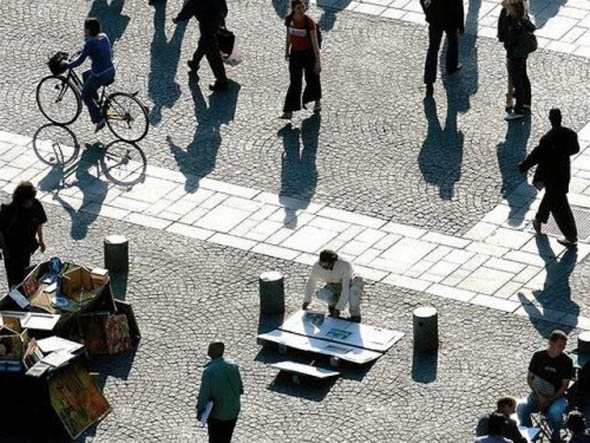 Shadows Square Optical Illusion 2