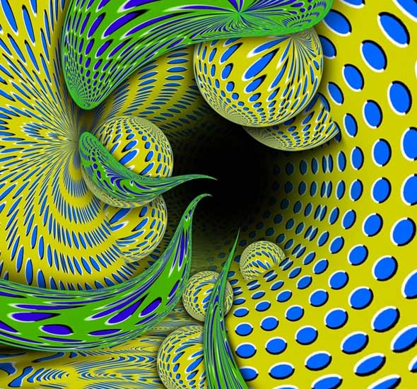 Moving Pattern - Akiyoshi Kitaoka - optical illusion 4