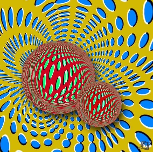 Moving Pattern - Akiyoshi Kitaoka - optical illusion 2