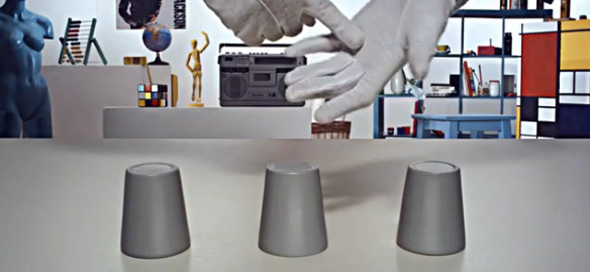 chop-cup optical illusion video