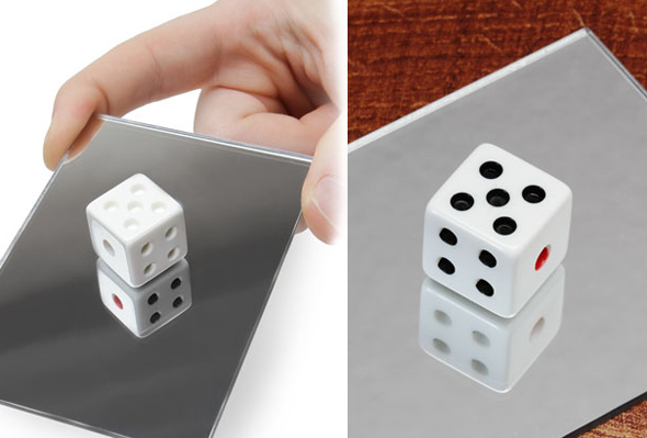 Video: Dice Mirror Optical Illusion