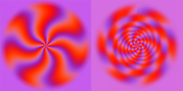 moving purple optical illusion