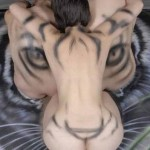 Bodypaint Tiger Optical Illusion by Craig Tracy 2