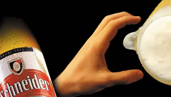 schneide-beer-ad-illusion-optical