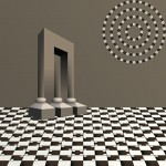 vector style - 3 in 1 optical illusion