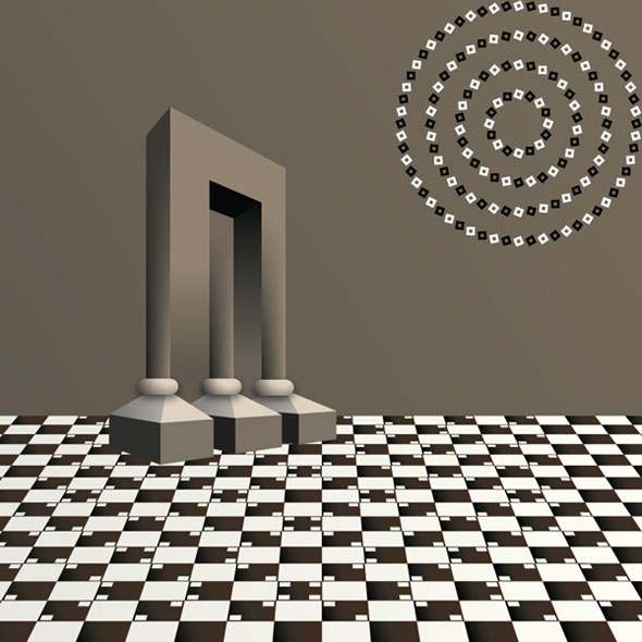 Vector Style: 3 in 1 Optical Illusion